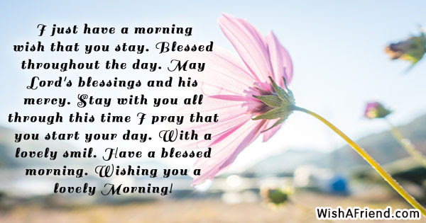 I Just Have A Morning Wish Christian Good Morning Message