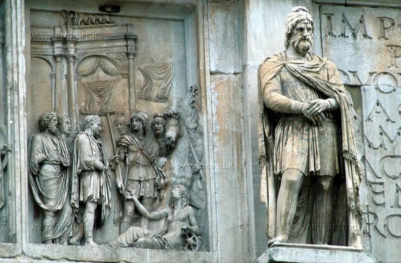 Roma, arco di Costantino, dettaglio della decorazione