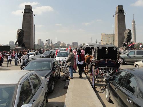 Entrance to Kasr el Nil Bridge
