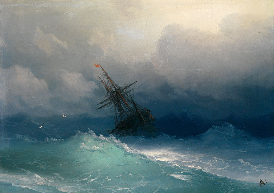 -pintura del siglo fascinantes-translúcidos ondas-19a-ivan-konstantinovich-aivazovsky-8