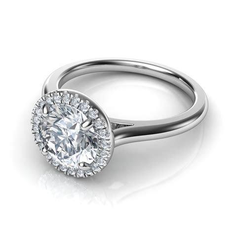 Plain Shank Floating Halo Diamond Engagement Ring Natalie