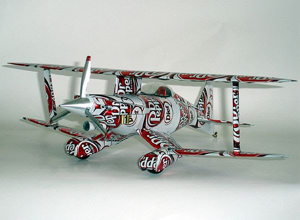Dr Pepper Cans Plane
