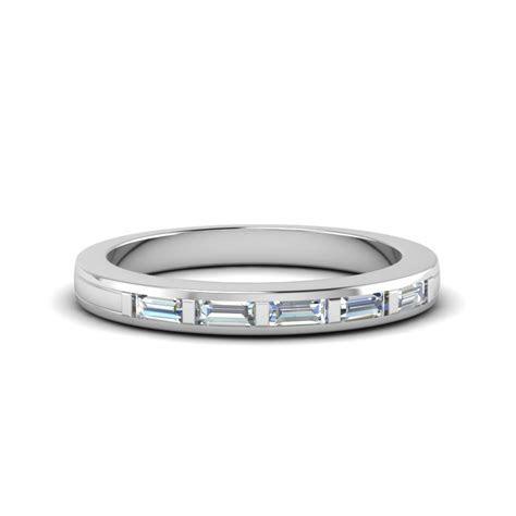 Baguette Diamond Wedding Band In 14K White Gold