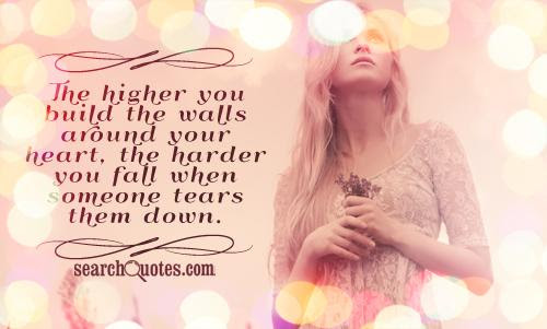 Building Walls Around My Heart Quotes Quotations Sayings 2019