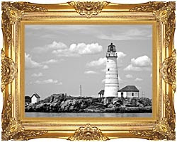 Brandie Newmon Boston Lighthouse Massachusetts Black And White