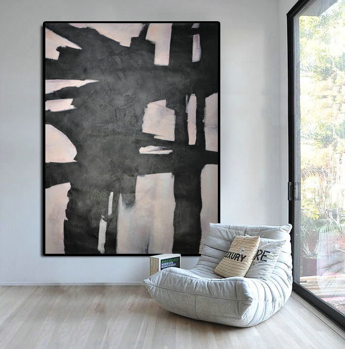 Extra Large Abstract Painting Horizontal Acrylic Painting Large