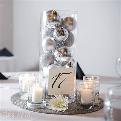 Green idea   after the reception you have silver ornaments