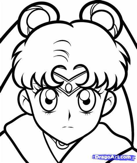 draw sailor moon easy step  step anime
