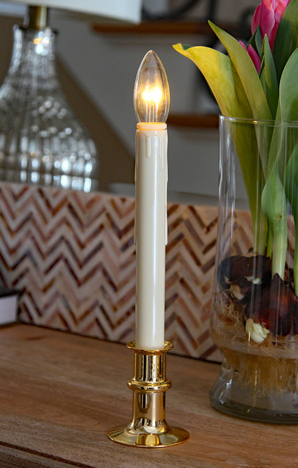 Ultra Bright Adjustable LED Cordless Window Candle Dual ...