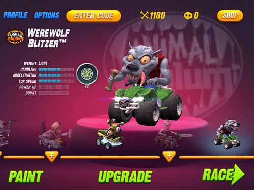 Monster 500 Upgrade screen