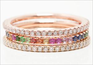 Glitter rings