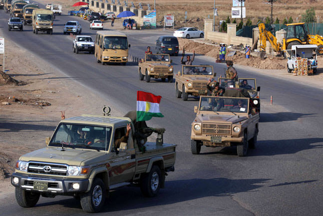 Peshmerga on its way to Kobani via Turkey