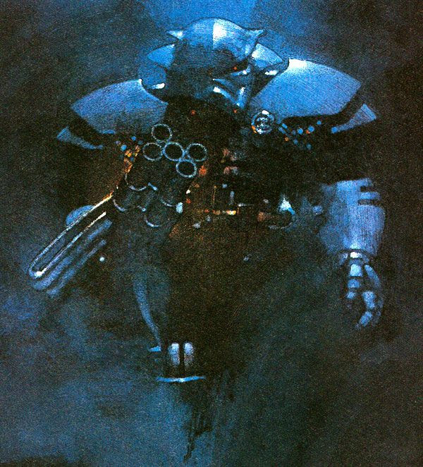 An artist's concept of the Imperial Dark Trooper from the 1995 STAR WARS video game, DARK FORCES.
