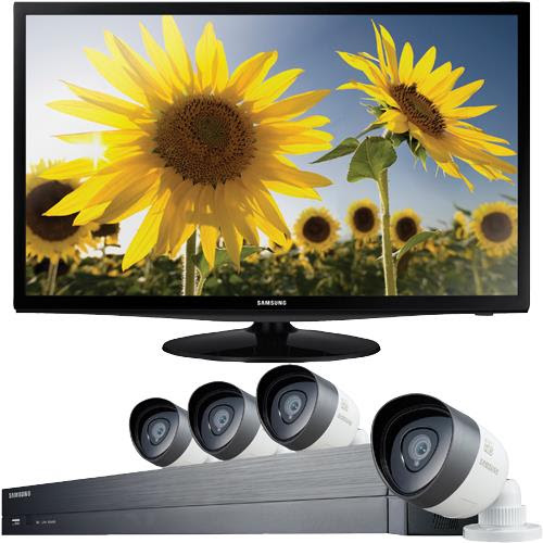 4 Camera 8 Channel 1080p Full HD All-In-One Security System With 24 Class LED HDTV