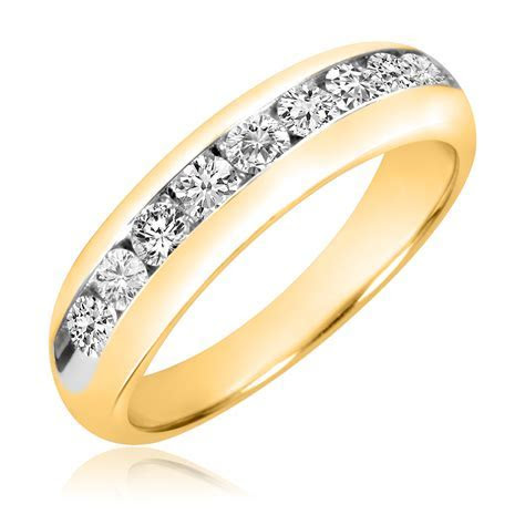1 Carat T.W. Diamond Men's Wedding Band 14K Yellow Gold
