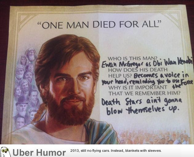 Obi Wan Died For Our Sins Funny Pictures Quotes Pics Photos