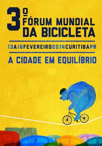 Cartaz oficial do III Fórum Mundial da Bicicleta (Foto: Reprodução)