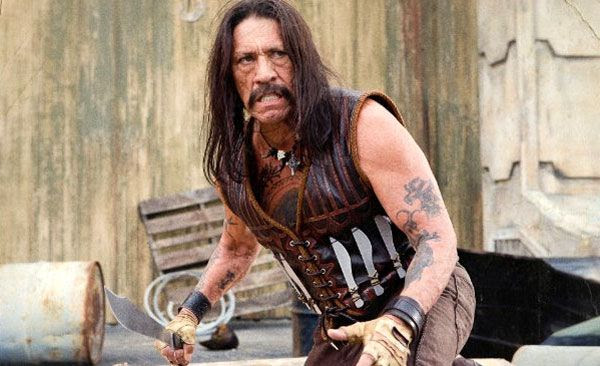 Danny Trejo as the machete-welding character Machete in MACHETE.
