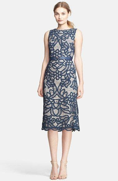 indigo blue belted sheath dress wedding guest dress #