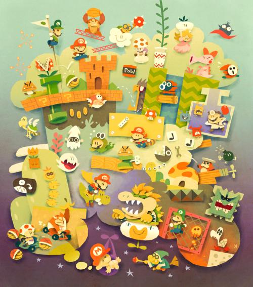 pakouu:  Mario dreams by Ken Wong