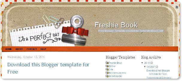 Best Scrapbook Blogger Templates