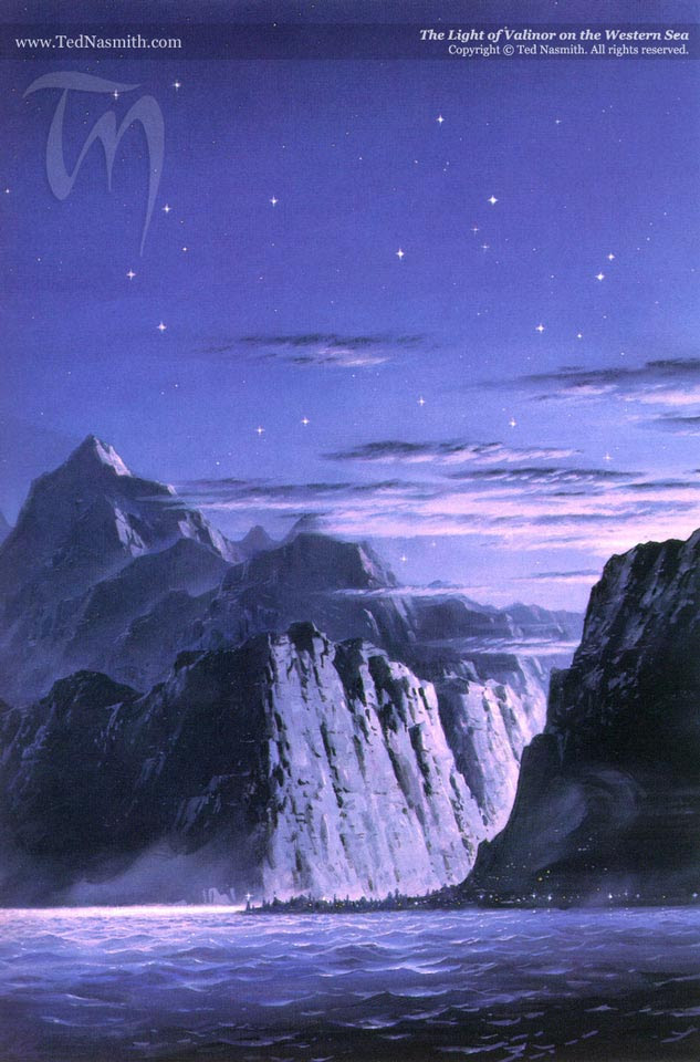 steep cliffs under a twilight sky, overlooking the sea