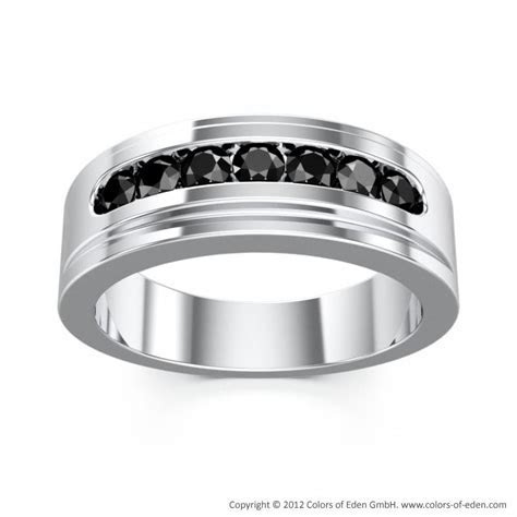 Colors of Eden   Platinum Black Diamond Ring Seven Sins #