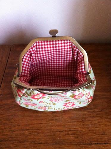 Inside of frame purse