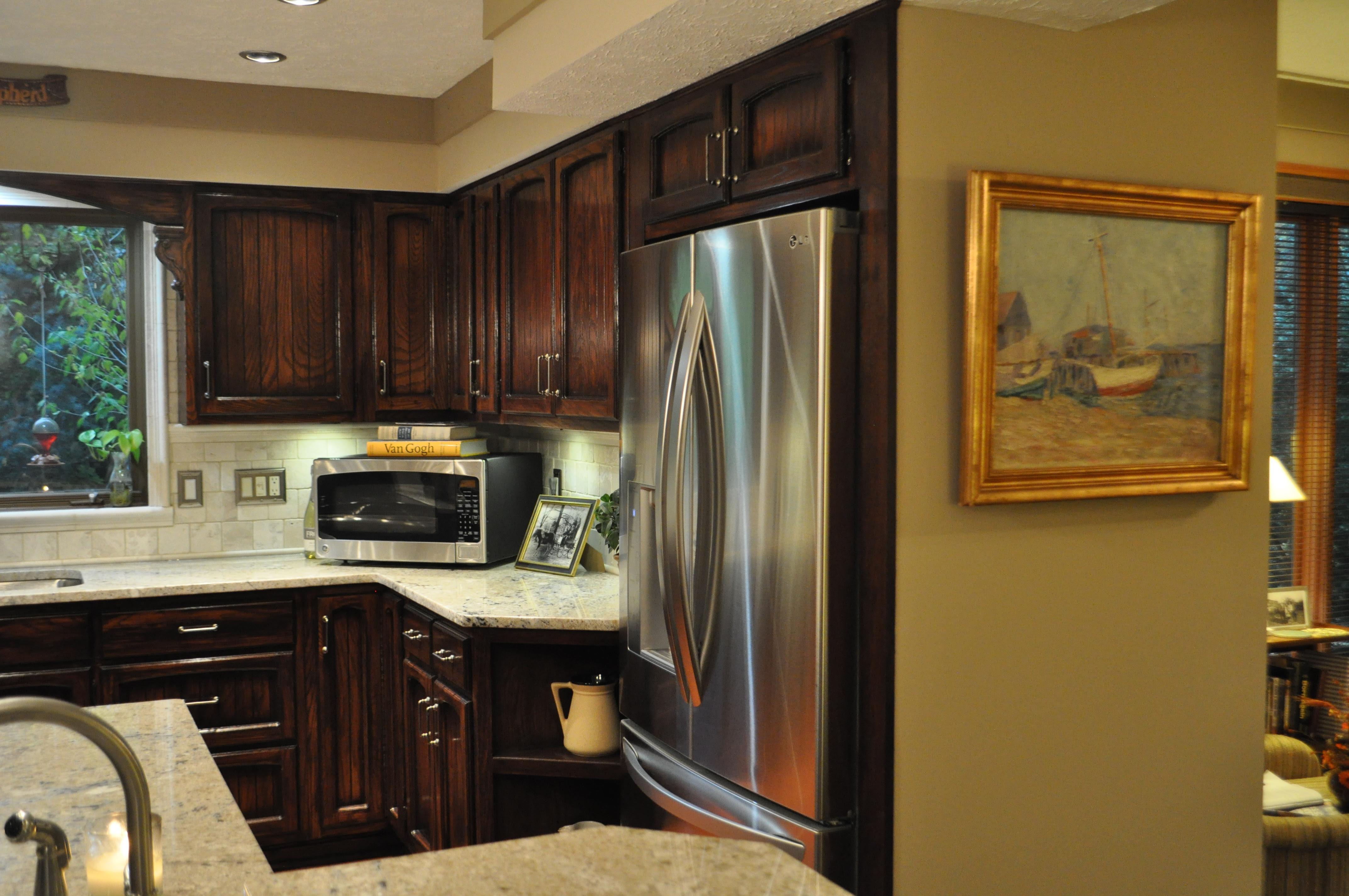 Kitchen Cabinets Over Refrigerator