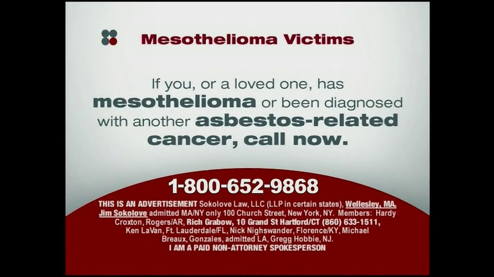 Sokolove Law Tv Commercial 39 Mesothelioma Victims39 Ispot Tv Mesothelioma Law 7