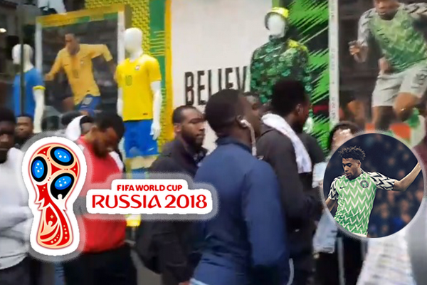 17b73566 Football Fans Turn Up In Droves For Nigeria's Stunning Kit Launch. Nigeria's  World Cup jersey has been ...
