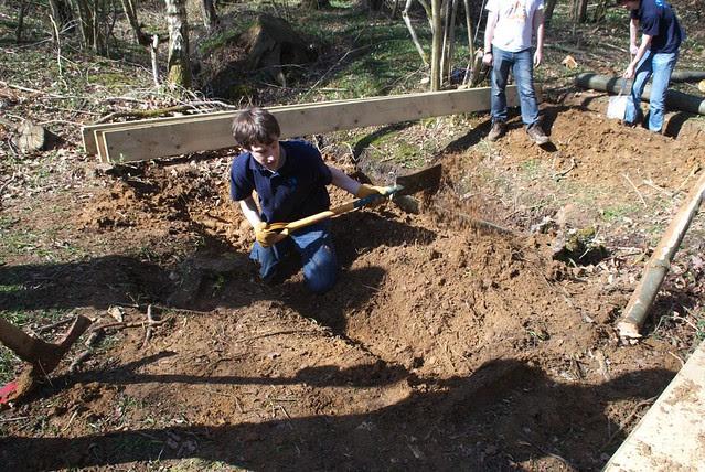 DSC_3704 Building a log bridge