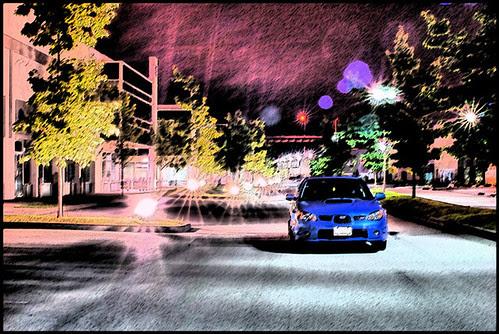 Subaru STI at night ver 2.0