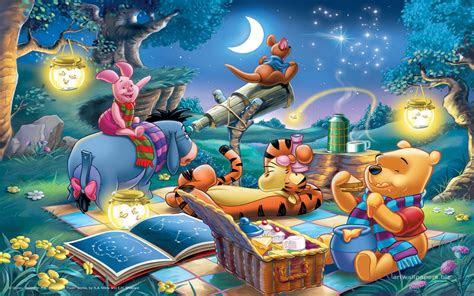disney picture winnie  pooh  friends lantern telescope picnic computer desktop wallpaper