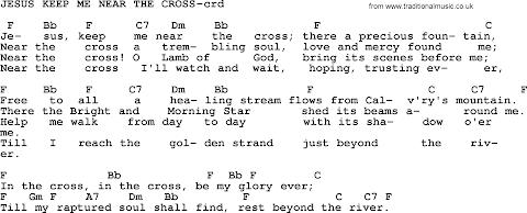Jesus Keep Me Near The Cross Lyrics And Chords