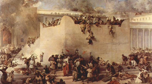 The storming of the Temple