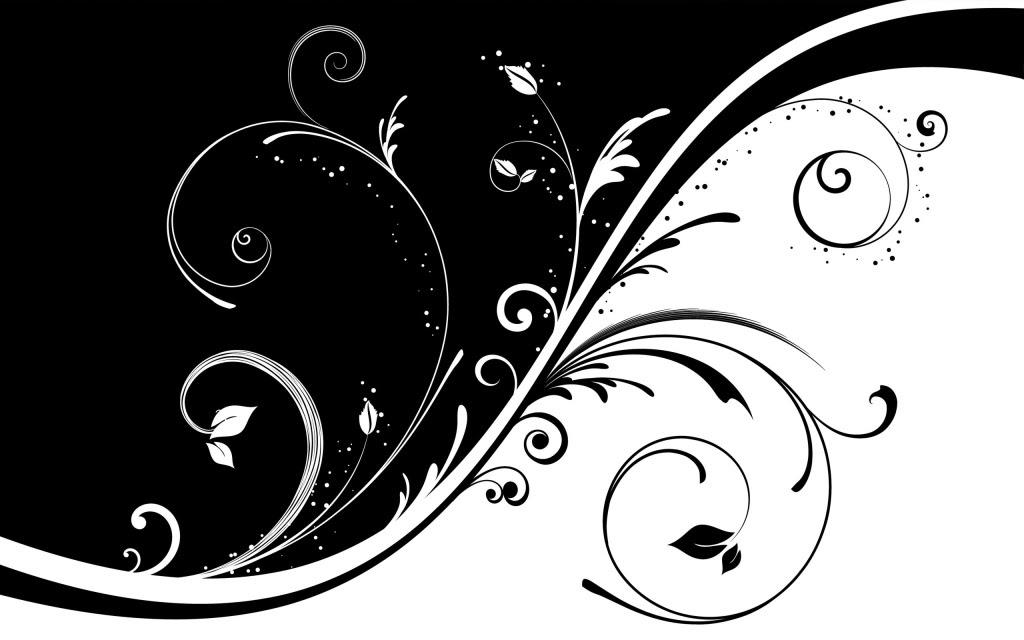 Free Black And White Floral Design Download Free Clip Art Free