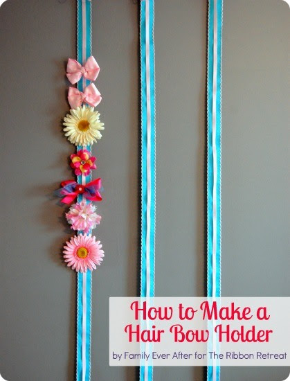 How To Make A Hair Bow Holder The Ribbon Retreat Blog