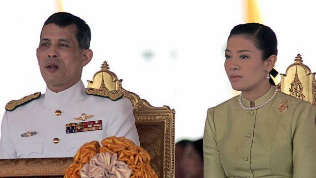 Thái tử Maha Vajiralongkorn và công nương Srirasmi