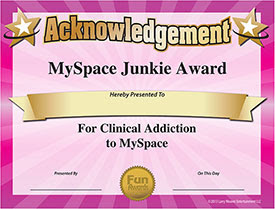 MySpace Award - Download Free Award