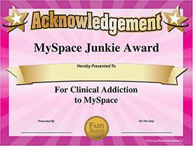 MySpace Award - Download Free Award