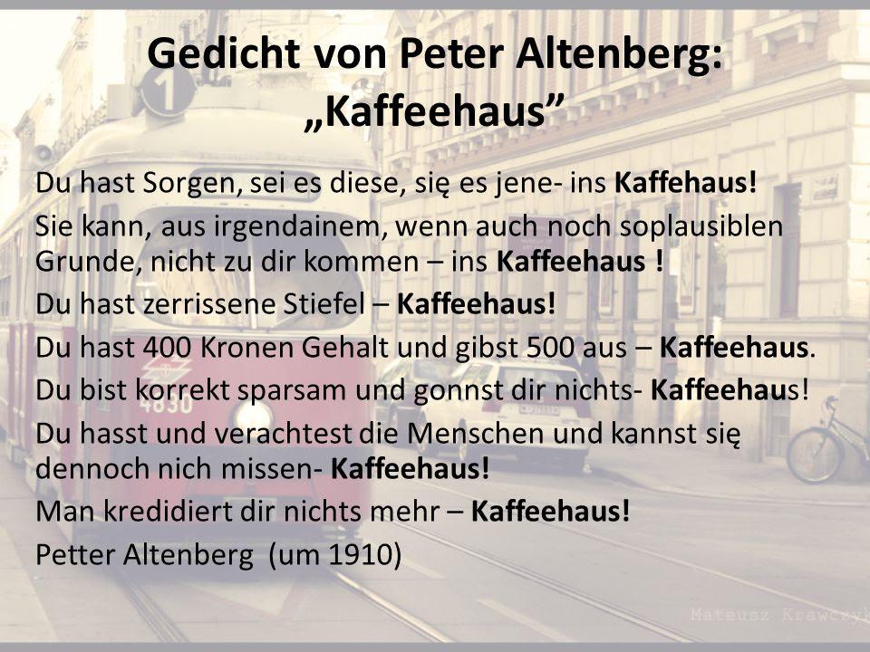 Bildergebnis für peter altenberg kaffeehaus