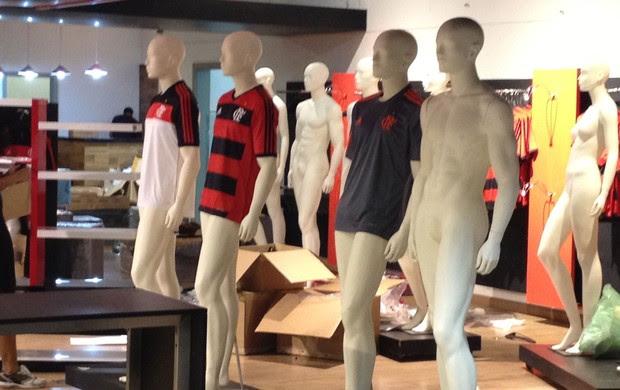 loja Flamengo novo uniforme  (Foto: Cahê Mota)