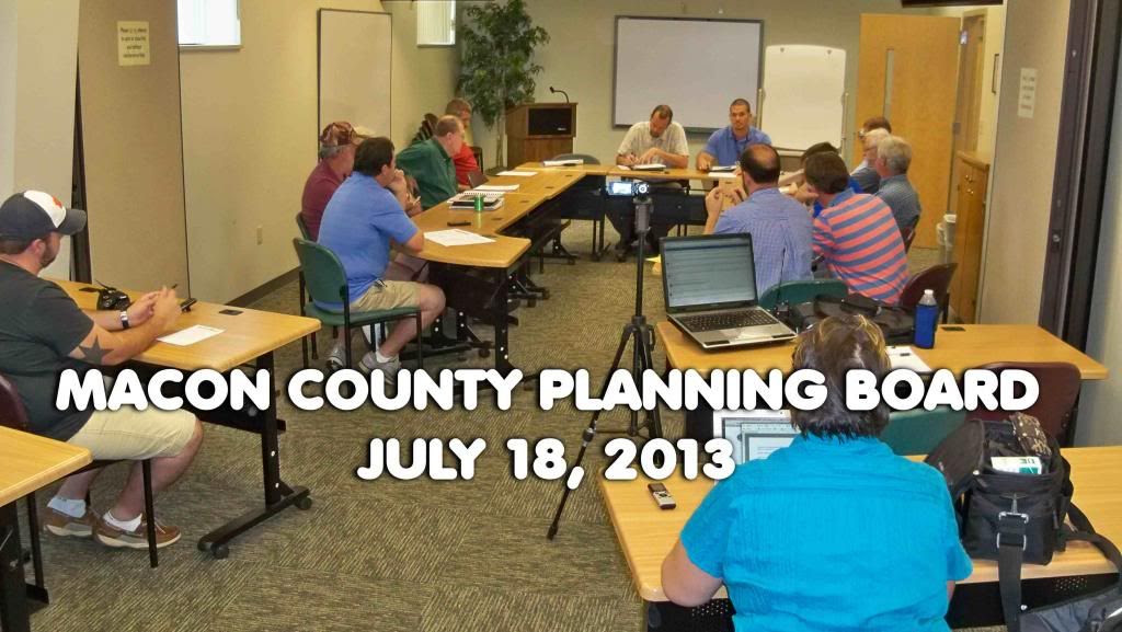 Macon County Planning Board  July 2013 Meeting  Photo by Bobby Coggins