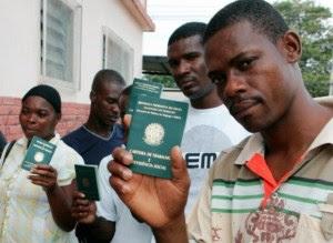 Homenagem aos imigrantes africanos e africanas