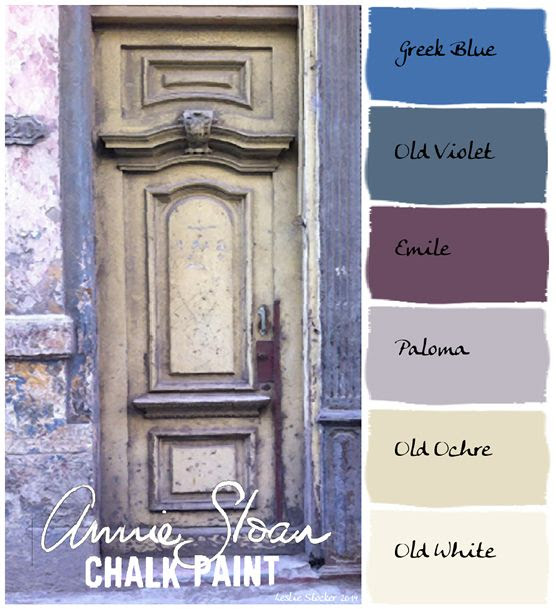 Annie Sloan Krijtverf en Annie Sloan Workshops http://www.debestekrijtverf.nl  | French Lavender Color Palette with Annie Sloan Chalk Paints