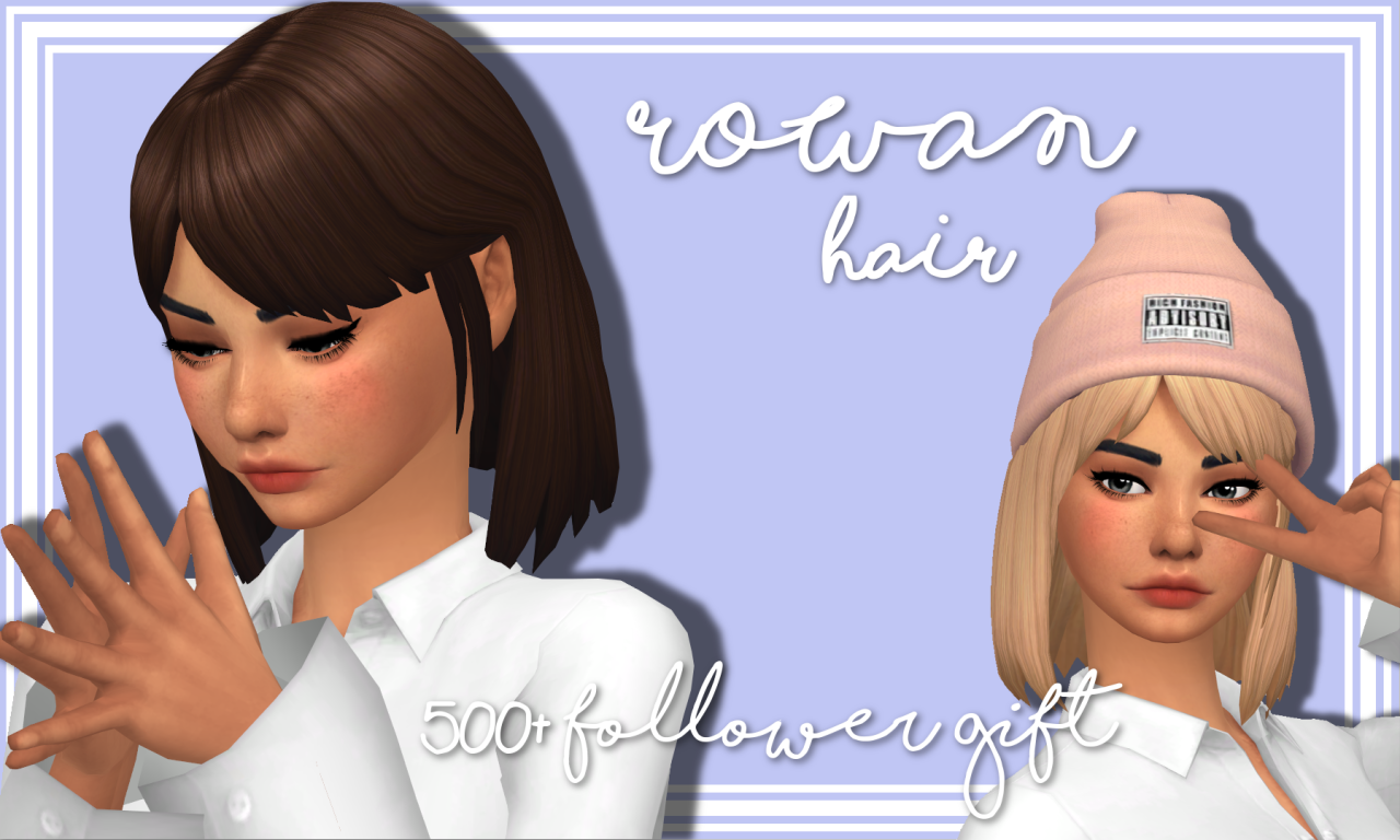 500+ Follower Gift (part 2) Hi everyone! This is the second mesh edit I made to celebrate me hitting 500 followers! Thank you all so much! I love you all, aahhh! 😍 I wanted some more simple hairstyles.. something that I would actually wear in real...