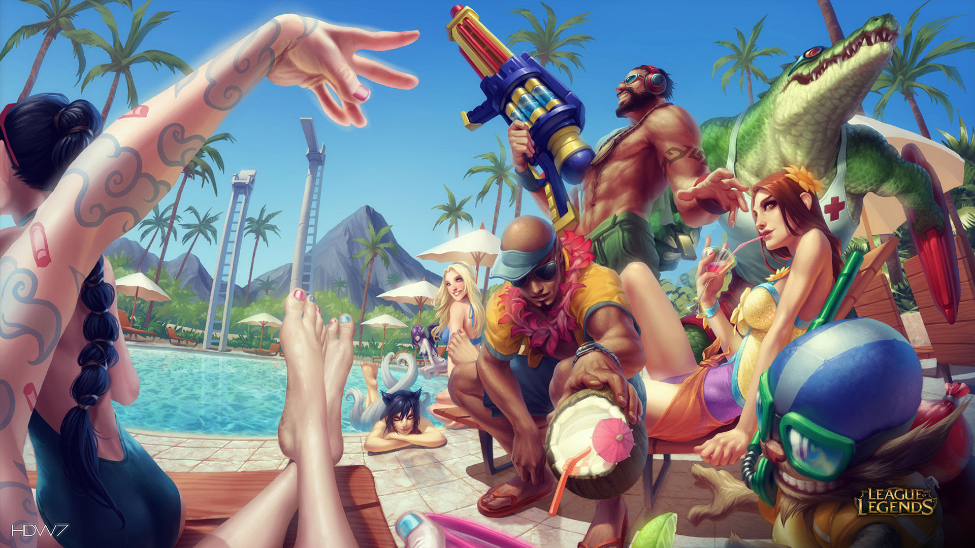 League Of Legends Game Lol Pool Party Fun Hd Wallpaper Gallery 220