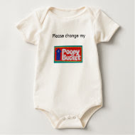 Funny baby shirt, Please Change My Diaper message shirt