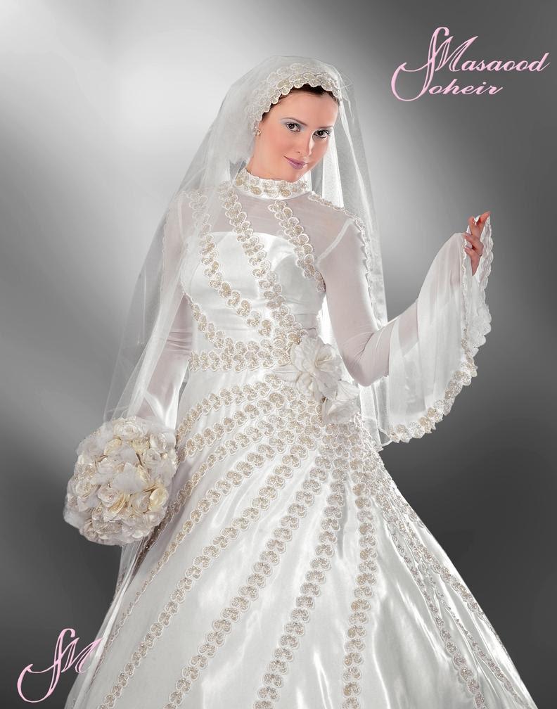 92066d4310ce8 فساتين زفاف 2016 ازياء عالمية محجبات - مصراوى الشامل